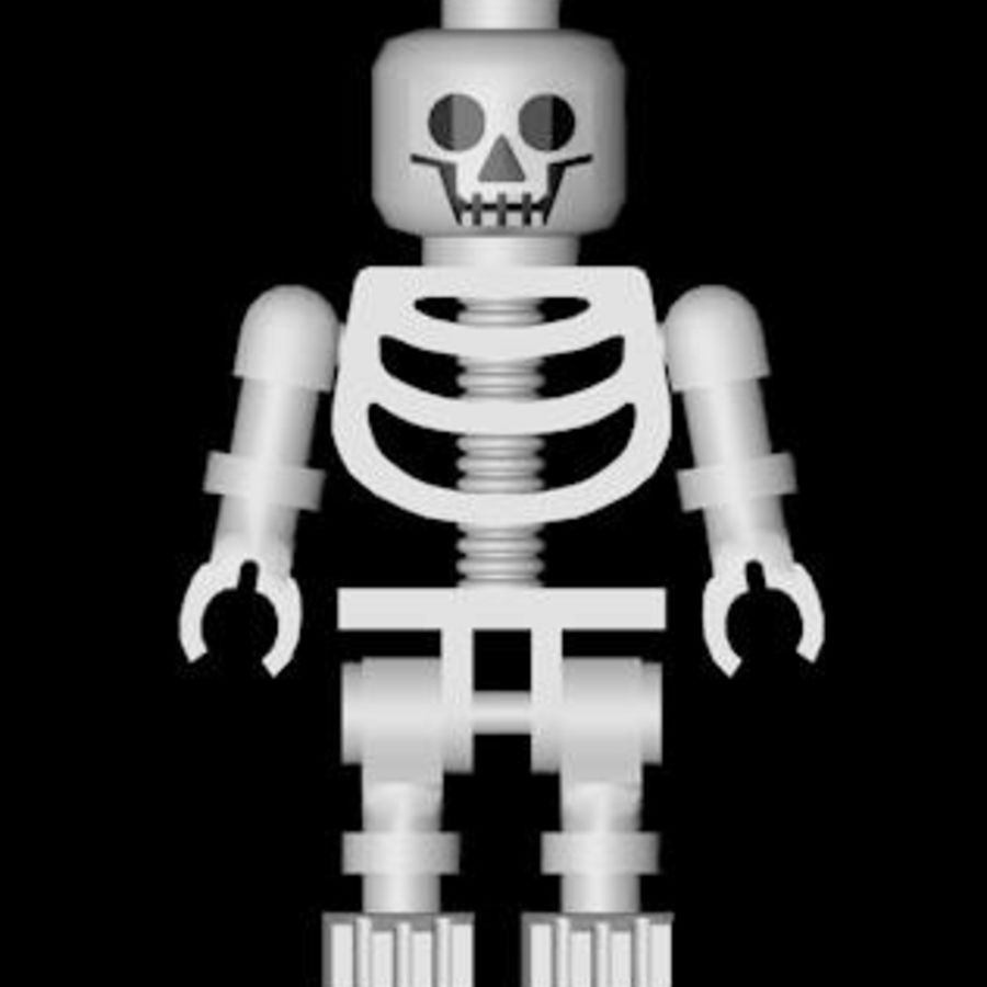 LEGO skeleton royalty-free 3d model - Preview no. 3