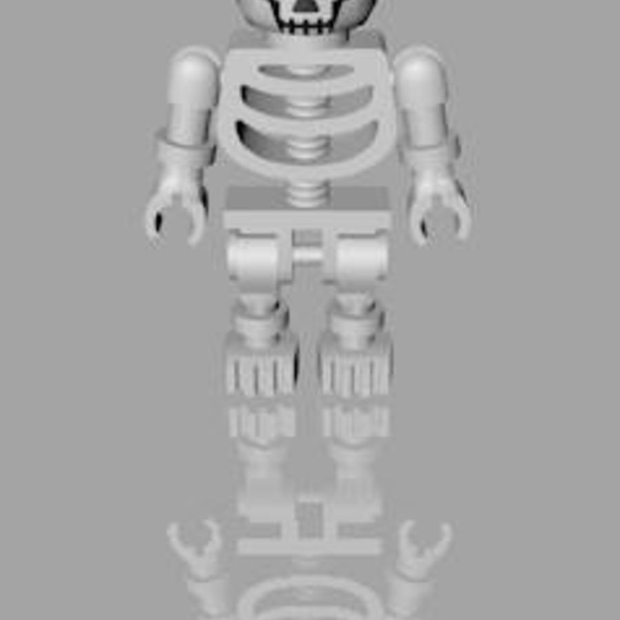 LEGO skeleton royalty-free 3d model - Preview no. 4