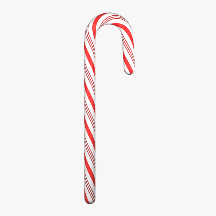 Candy Cane royalty-free 3d model - Preview no. 1