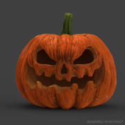 Реалистичная тыква на Хэллоуин 3d model