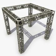 Costruttore di capriate in acciaio 3d model