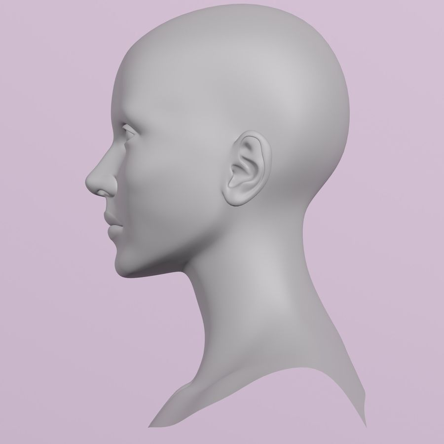 Female Head royalty-free 3d model - Preview no. 4