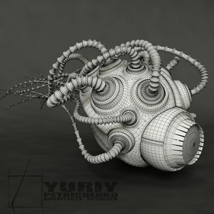beetle royalty-free 3d model - Preview no. 7