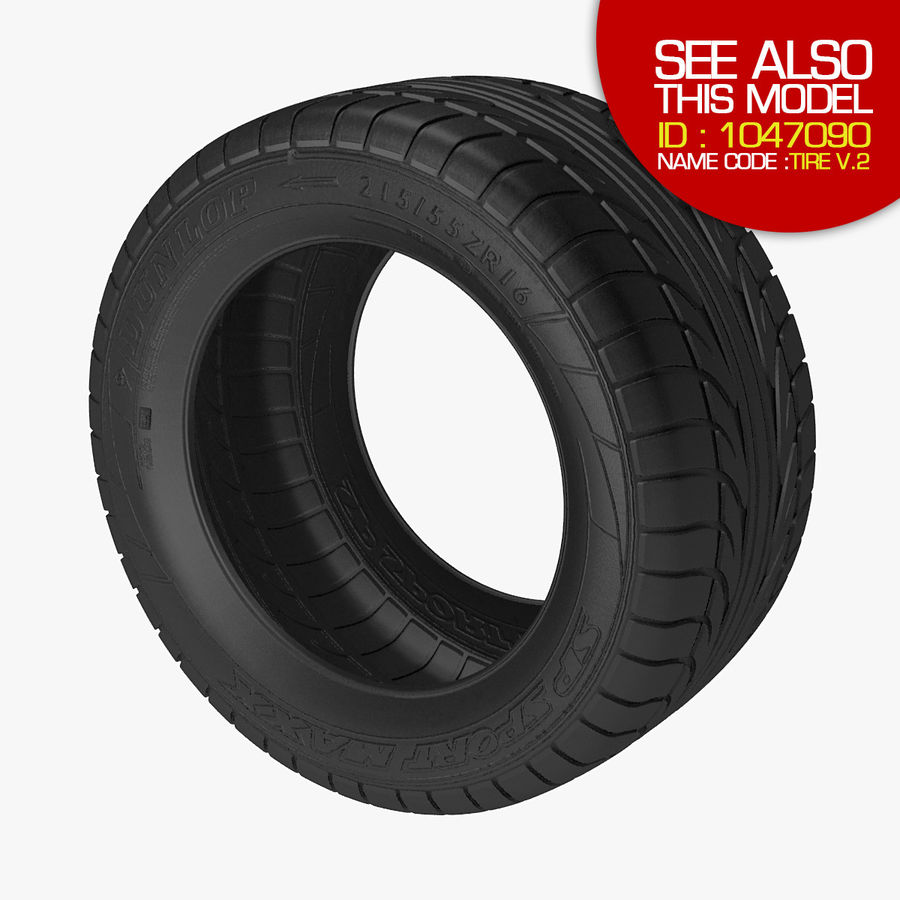 Goodyear Ultragrip Tires royalty-free 3d model - Preview no. 10
