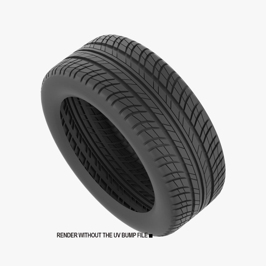 Goodyear Ultragrip Tires royalty-free 3d model - Preview no. 2