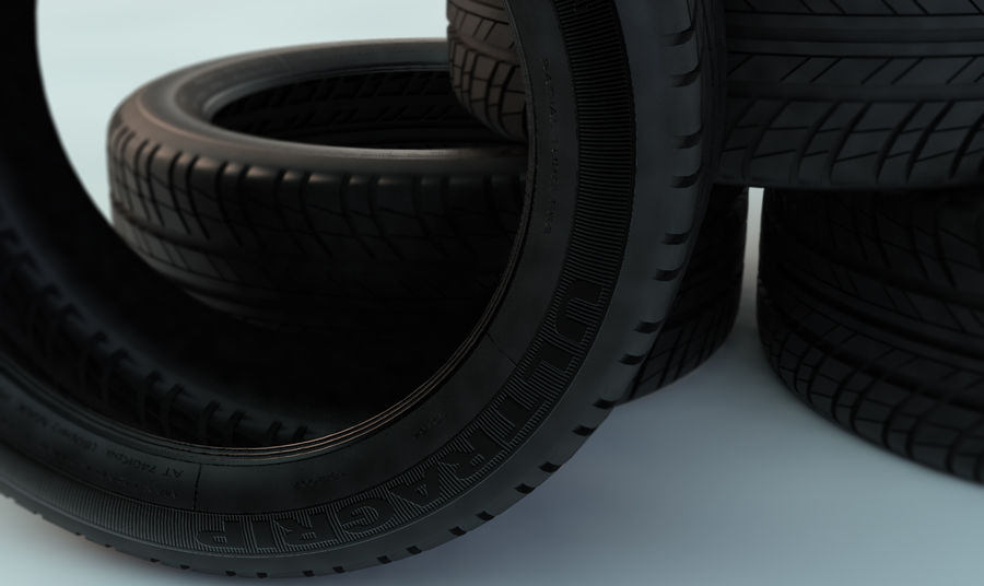 Goodyear Ultragrip Tires royalty-free 3d model - Preview no. 5