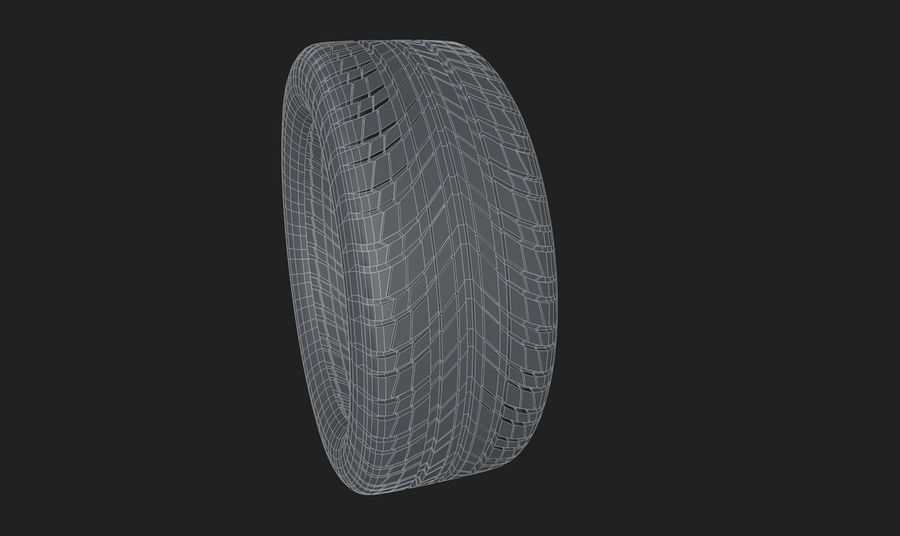 Goodyear Ultragrip Tires royalty-free 3d model - Preview no. 9