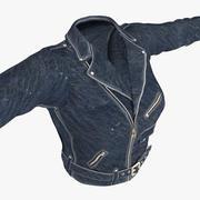 Bayan Ceketi Mavi Deri 3d model