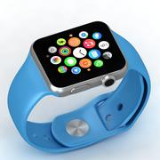 Apple Watch Esporte Azul 3d model