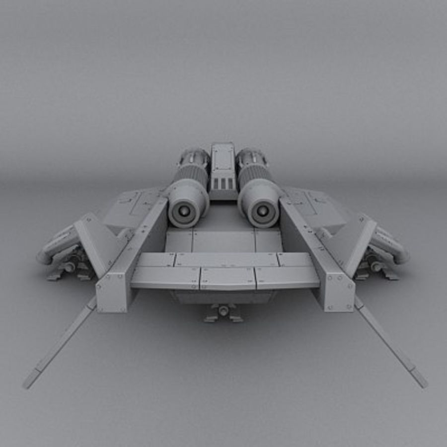 Airplane fighter royalty-free 3d model - Preview no. 4