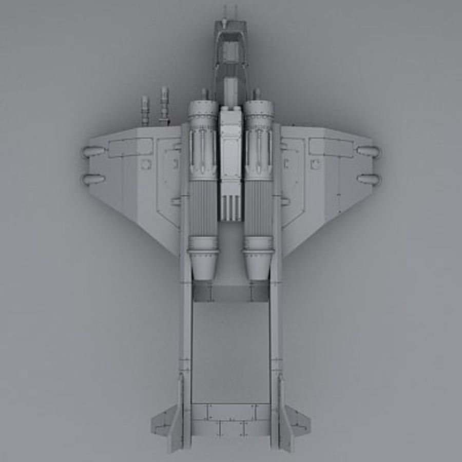 Airplane fighter royalty-free 3d model - Preview no. 5