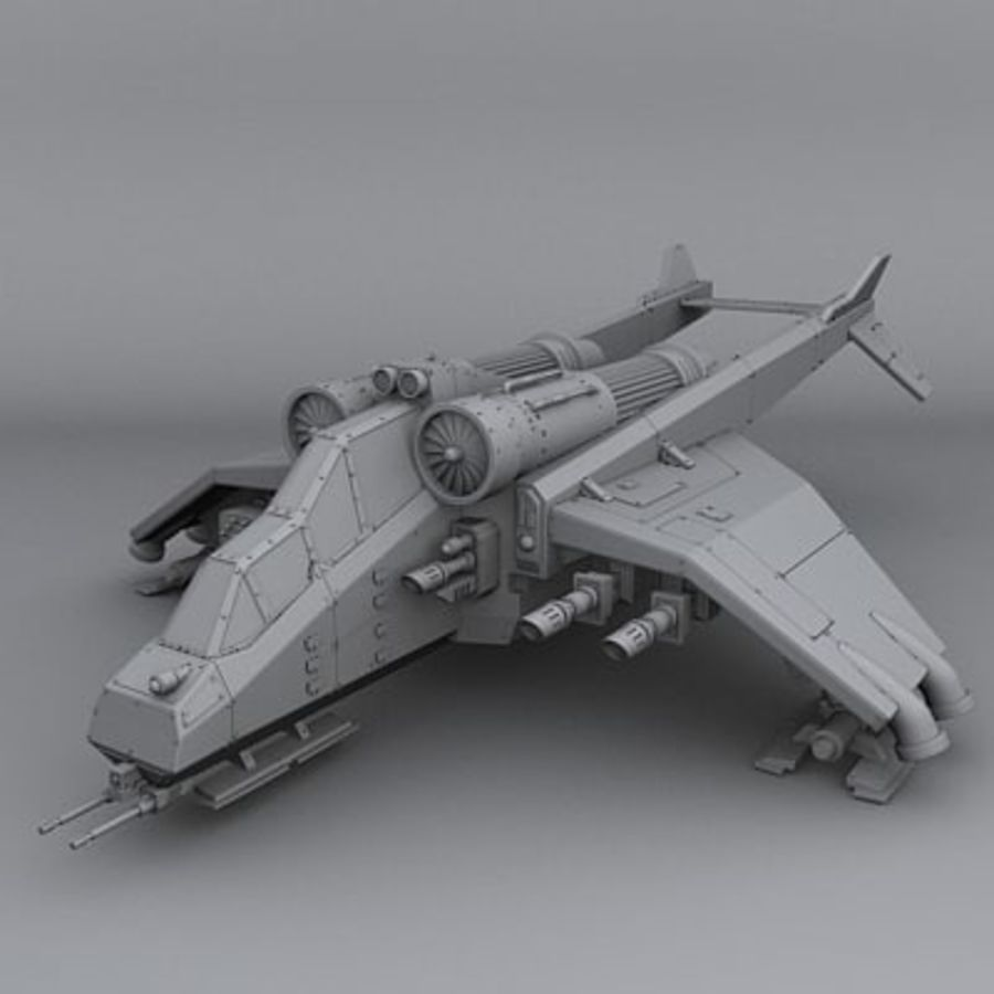 Airplane fighter royalty-free 3d model - Preview no. 2