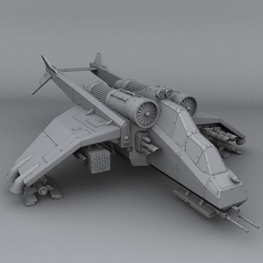 Airplane fighter royalty-free 3d model - Preview no. 1