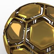 Soccerball dissasembled golden 3d model