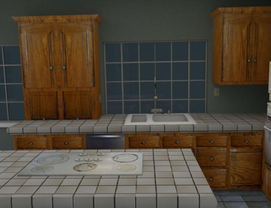 Cucina moderna usata Modello 3D $27 - .obj .fbx .blend - Free3D