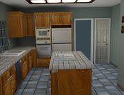 Modern Used Kitchen 3d model