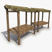 Old Medieval Stall 3d model