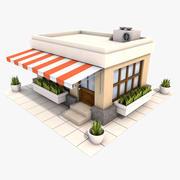 Restauracja Cartoon 3d model