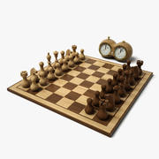 Juego de ajedrez mínimo HD modelo 3d