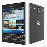 Smartphone do passaporte de Blackberry 3d model