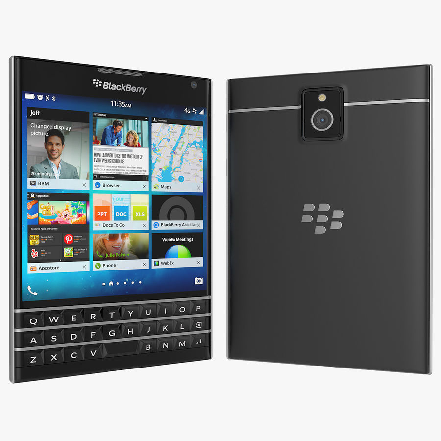 Blackberry Passport Smartphone royalty-free 3d model - Preview no. 3