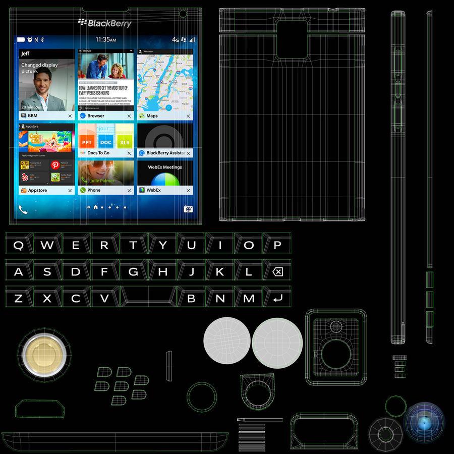 Blackberry Passport Smartphone royalty-free 3d model - Preview no. 20