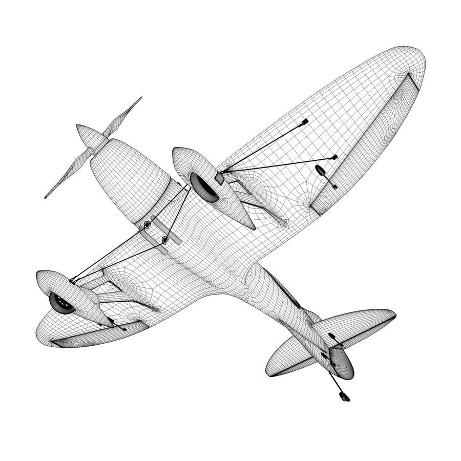 Спорт Самолет royalty-free 3d model - Preview no. 7