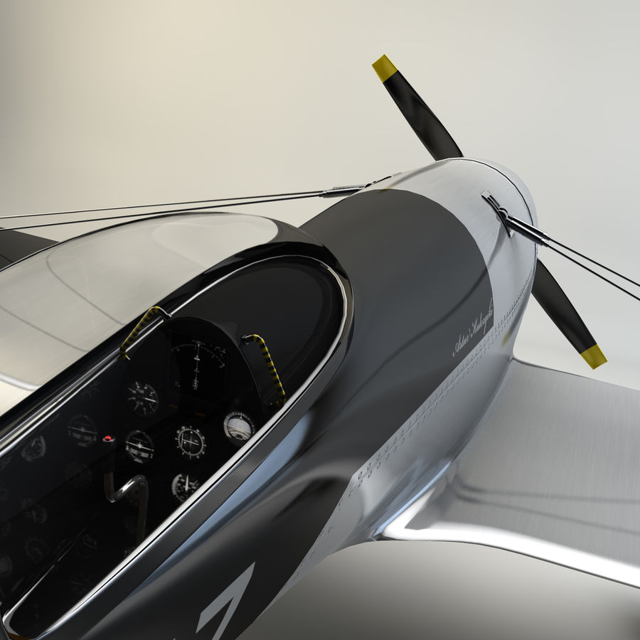 Спорт Самолет royalty-free 3d model - Preview no. 2