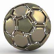 Soccerball dissasembled gold 3d model