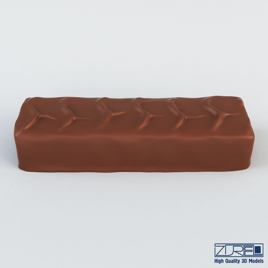 Snickers chocolate bar v 1 royalty-free 3d model - Preview no. 7