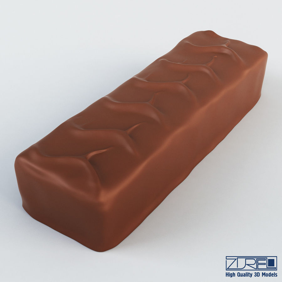 Snickers chocolate bar v 1 royalty-free 3d model - Preview no. 2