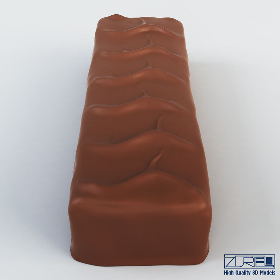 Snickers chocolate bar v 1 royalty-free 3d model - Preview no. 5