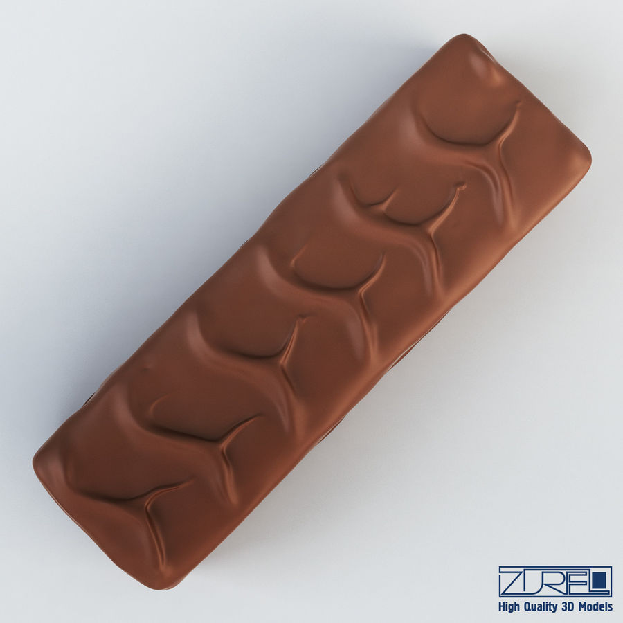 Snickers chocolate bar v 1 royalty-free 3d model - Preview no. 3