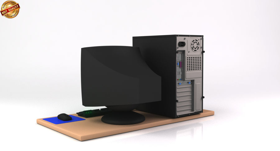 Desktop Computer royalty-free 3d model - Preview no. 8