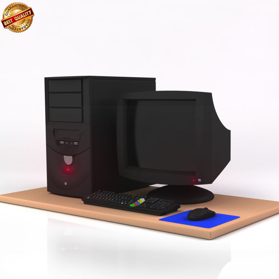 Desktop Computer royalty-free 3d model - Preview no. 1