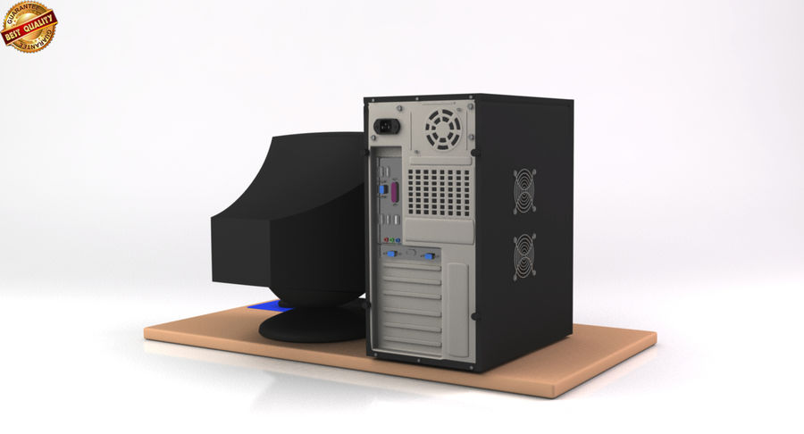 Desktop Computer royalty-free 3d model - Preview no. 6