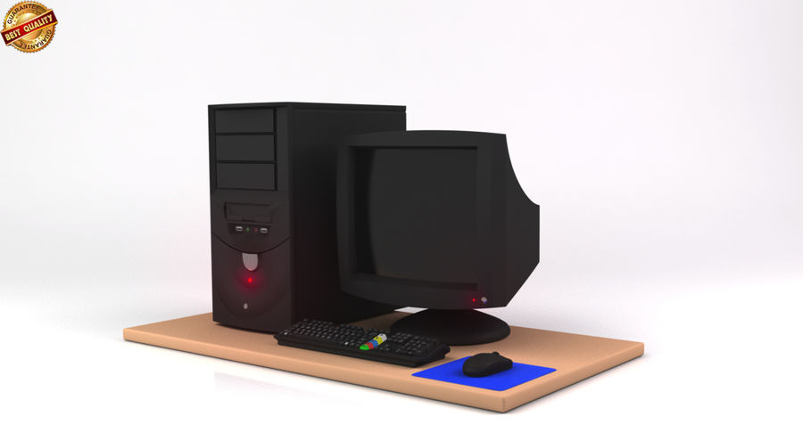 Desktop Computer royalty-free 3d model - Preview no. 2