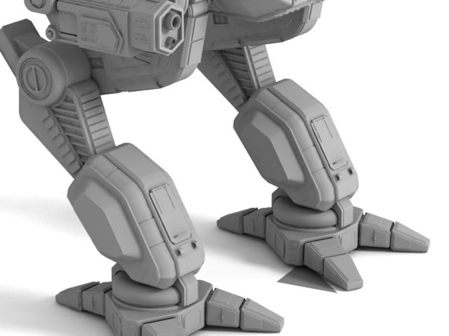 Army Mech Warrior Robot V3 royalty-free 3d model - Preview no. 14