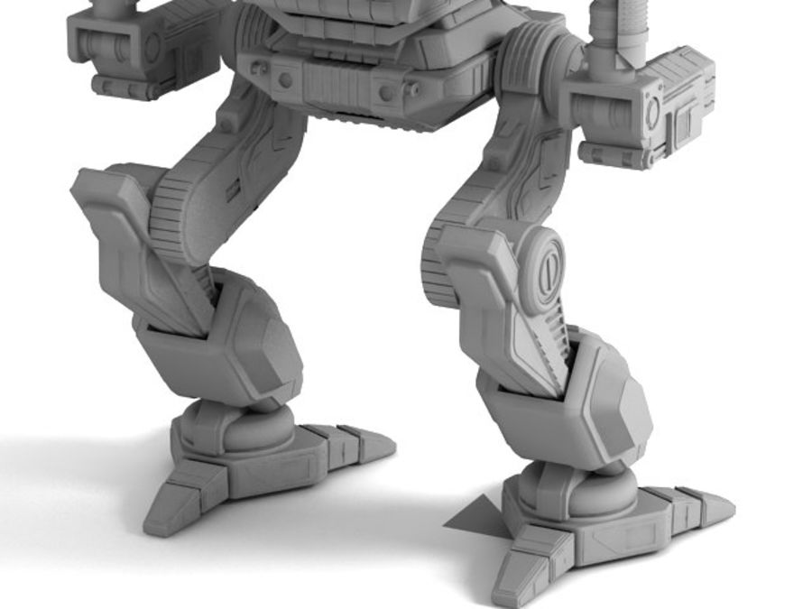 Army Mech Warrior Robot V3 royalty-free 3d model - Preview no. 12