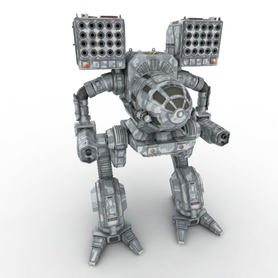 Army Mech Warrior Robot V3 royalty-free 3d model - Preview no. 1