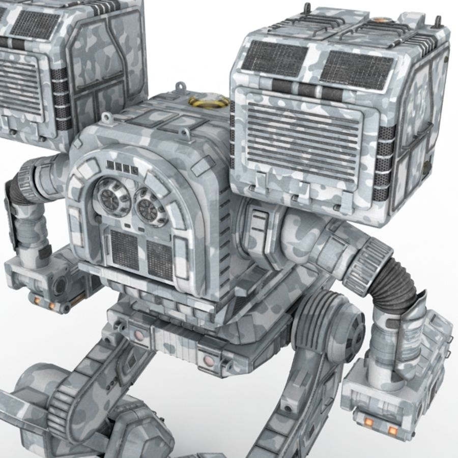 Army Mech Warrior Robot V3 royalty-free 3d model - Preview no. 7
