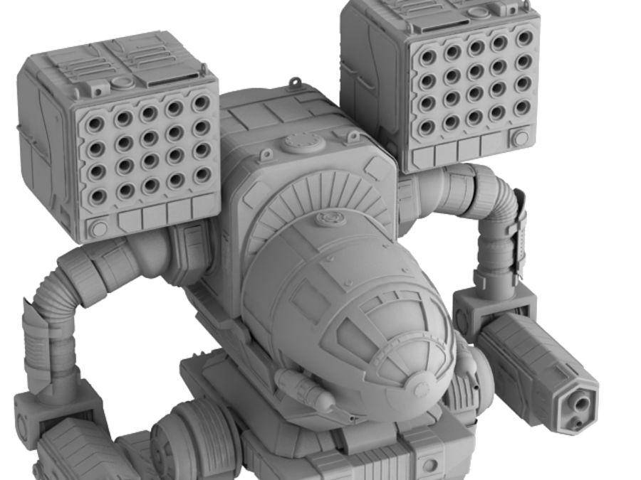Army Mech Warrior Robot V3 royalty-free 3d model - Preview no. 9