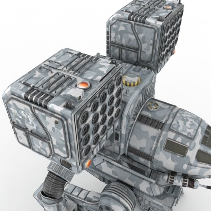 Army Mech Warrior Robot V3 royalty-free 3d model - Preview no. 4