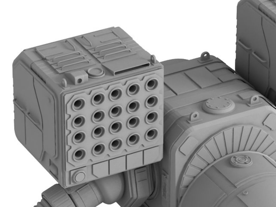 Army Mech Warrior Robot V3 royalty-free 3d model - Preview no. 16