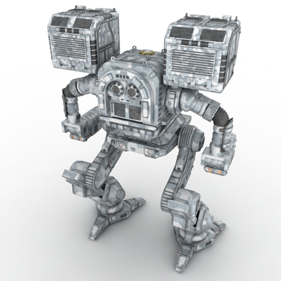 Army Mech Warrior Robot V3 royalty-free 3d model - Preview no. 6