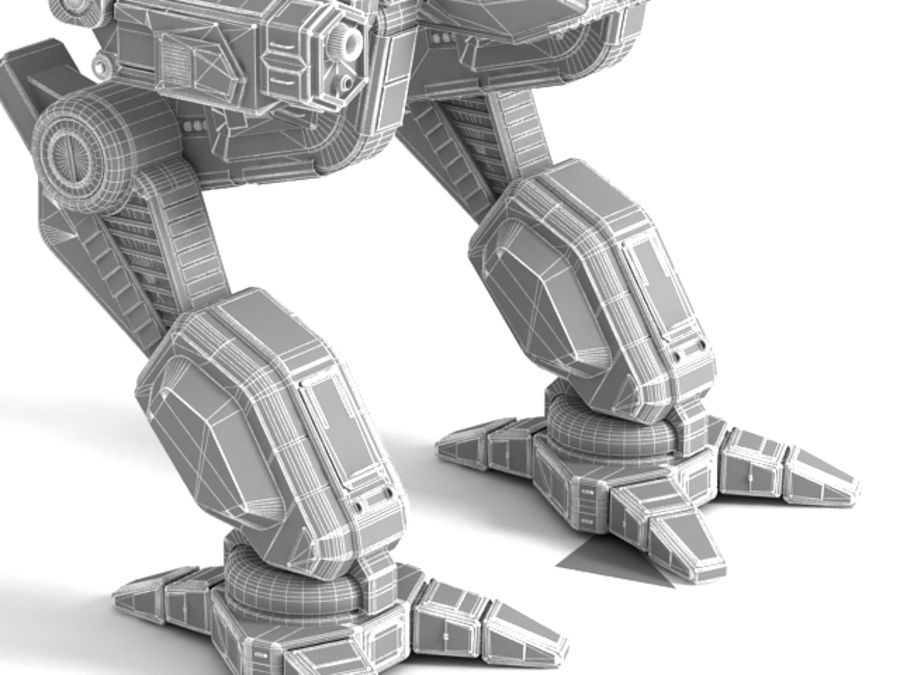 Army Mech Warrior Robot V3 royalty-free 3d model - Preview no. 15