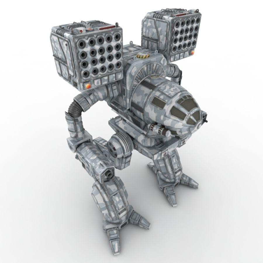 Army Mech Warrior Robot V3 royalty-free 3d model - Preview no. 2
