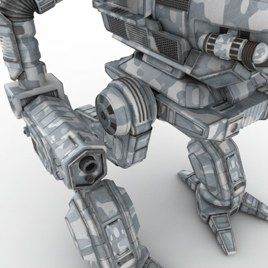 Army Mech Warrior Robot V3 royalty-free 3d model - Preview no. 5