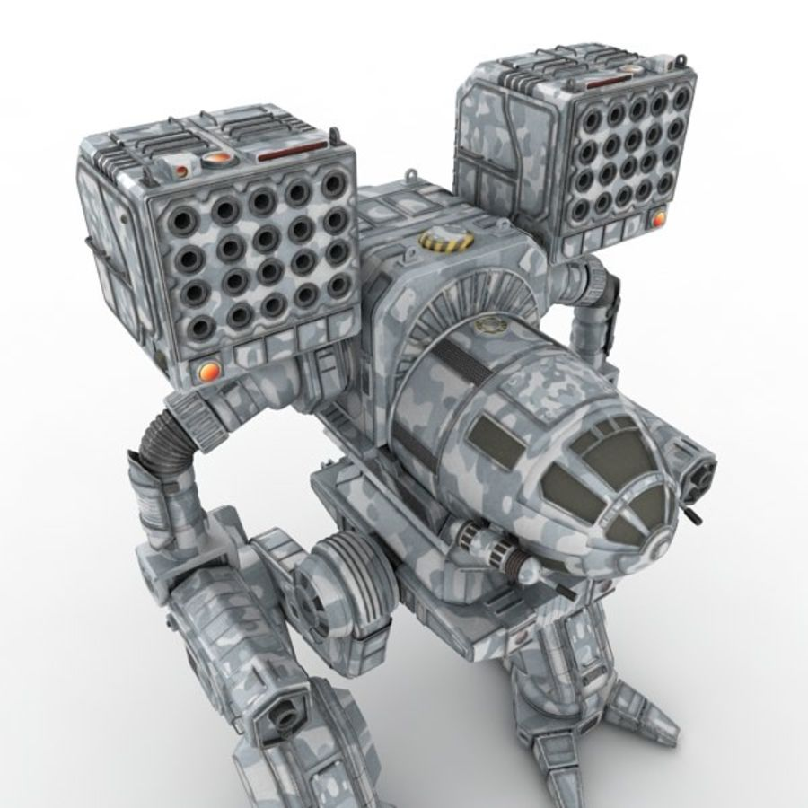 Army Mech Warrior Robot V3 royalty-free 3d model - Preview no. 3