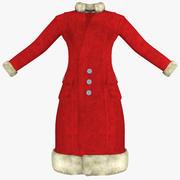 Womens Red Coat 3d model
